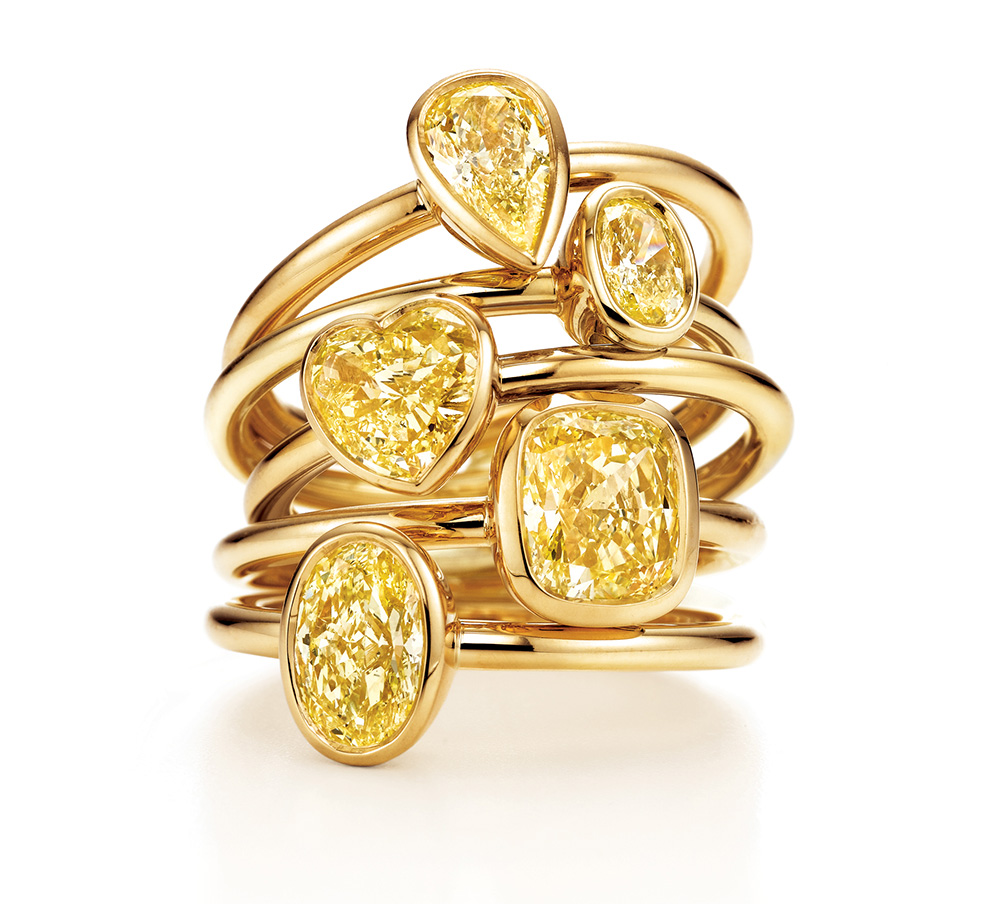 TiffanyYellowDiamondrings